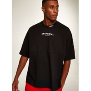 Mens Black 'Unofficial' T-Shirt, Black