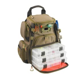 Wild River Tackle Tek Recon Lighted Backpack 4 Trays, Beige & Tan
