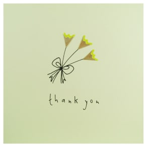 Ruth Jackson Flowers Thank You Card