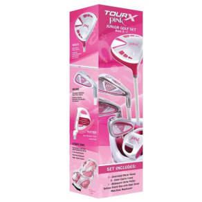 Merchants of Golf Tour X Pink Size 1 Ages 5-7 5pc Jr Golf Club Set W/Stand Bag Right Hand