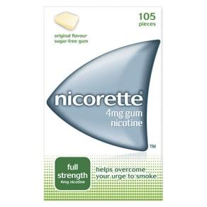 Nicorette 4mg Gum Nicotine (105 Pieces)