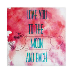Intelligent Design To The Moon And Back Gel-Coated Canvas Print