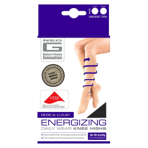 Neo G Energizing Daily Wear Knee Highs Black - Large