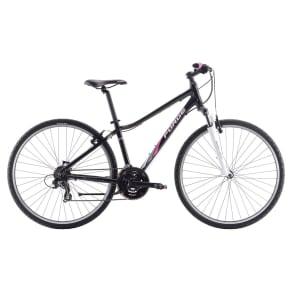 Forge Xr Sport Female Hybrid - 28 Bike, Black and Magenta