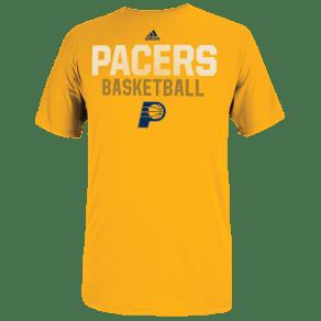 Indiana Pacers Adidas Nba Graphic Logo T-Shirt - Mens - Gold