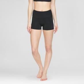 Velvet Rose Women's High Waist Shorts With Mesh - Black Xl
