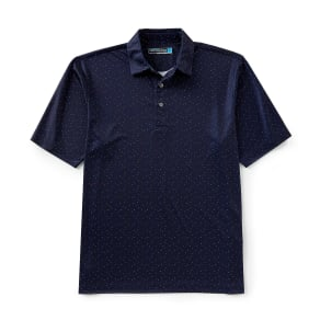 Roundtree & Yorke Performance Big and Tall Short-Sleeve Confetti Print Polo