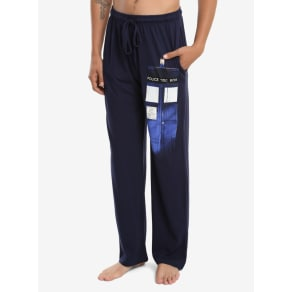 Doctor Who Materializing Tardis Guys Pajama Pants
