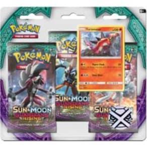 Pokemon Sun & Moon 2 Guardians Rising Triple Pack Booster (Turtonator)