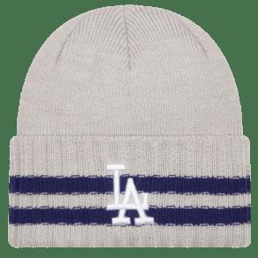 Los Angeles Dodgers New Era Mlb 2 Striped Cuff Knit - Mens - Grey