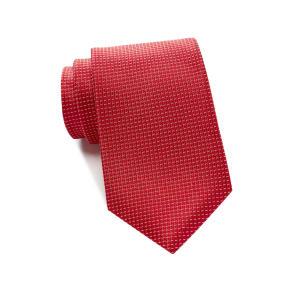 Micro Pip Solid Silk Tie