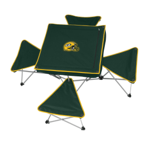 Nfl Packers Table With 4 Stools