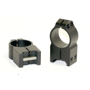 Warne Scope Mounts 1 Inch Permanent Attach Rings Extra High Matte 203M, Black