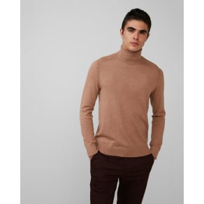 Express Mens Merino Wool Blend Thermal Regulating Turtleneck