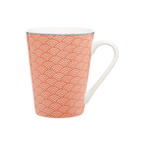 Linea Summer Geo Coral Mug