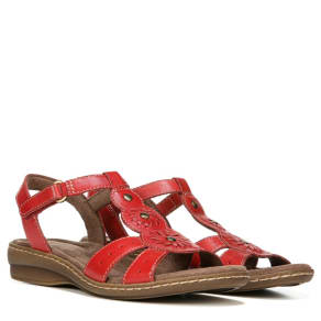 Natural Soul Natural Soul Barroll Sandals (Red Leather) - 8.5 M