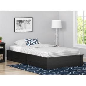 Dorel Home Furnishings Austin Twin Black Oak Platform Bed Frame