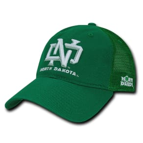 North Dakota Fighting Hawks Relax Mesh Hat (Green)