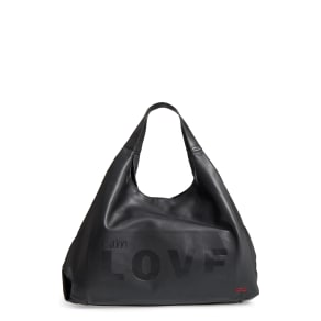Peace Love World Slouchy Faux Leather Hobo Black