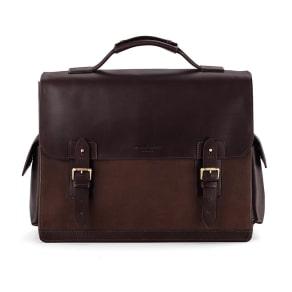 Shadow Briefcase in Brown Nubuck