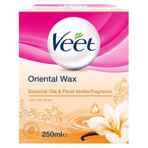 Veet Oriental Wax Essential Oils & Floral Vanilla Fragrance 250ml