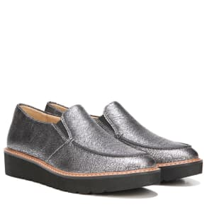 Naturalizer Aibileen Shoes (Silver Crackle Leather) - 10.0 M