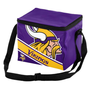 Nfl Big Logo Stripe 6 Pack Cooler-Minnesota Vikings, Minnesota Vikings