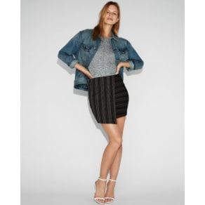 Express Womens High Waisted Jacquard Asymmetrical Mini Skirt