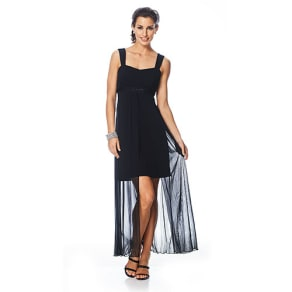 Connected Apparel Sleeveless Layered Dress