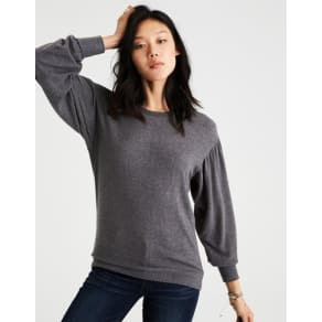 Ae Soft & Sexy Plush Balloon Sleeve Sweatshirt