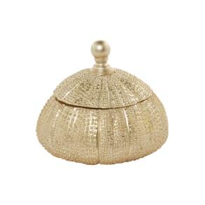Linea Gold Shell Trinket Box, Gold