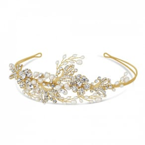 Alan Hannah Devoted Designer Blossom Freshwater Pearl and Pave Headband