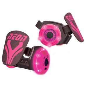 Yvolution Kids' Neon Street Rollers Heel Wheels - Pink