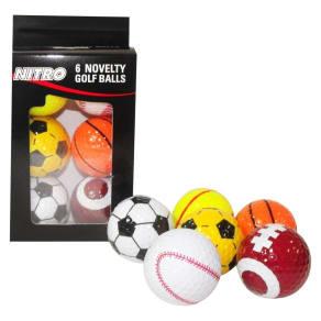 Sports Balls Nitro Golf 6 Ea, Multi-Colored