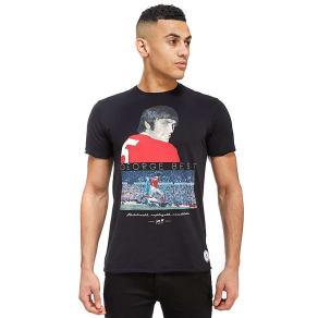 Copa George Best United T-Shirt - Black - Mens