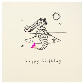 Ruth Jackson Mermaid Birthday Card