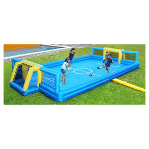 Sportspower Inflatable Soccer Field - Blue/Yellow