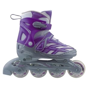Chicago Blazer Girl's Jr Adjustable in Line Skate - Silver (1-4)