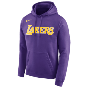 Los Angeles Lakers Nike Nba Club Wordmark Hoodie - Mens - Purple