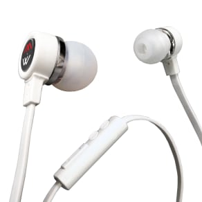 Datexx Hd-40 Intalk Mov Hifi Noise Isolating Inear Headphones With Microphone, White