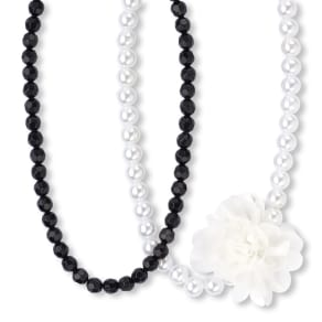 Girls  Faux Pearl And Beaded Necklace Set - Multi