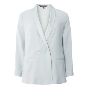 Womens Silver Soft Blazer