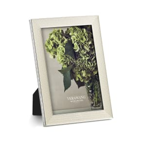 Vera Wang X Wedgwood With Love Nouveau Pearl Picture Frame, Size 5x7 - Metallic