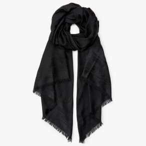 Ted Baker Bow Detail Jacquard Scarf, Black