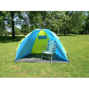 American Hawks 7' X 6' Beach Shelter Tent With One Touch Easy Setup and Carry Bag, Blue