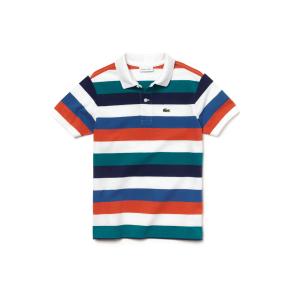 Colored Stripes Pique Polo Shirt