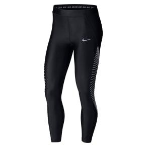 Women's Nike Power Speed 7/8 Women's Graphic Running Tights, Size Medium - Black