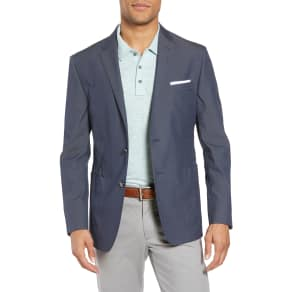 Men's H Classic Fit Stretch Cotton Blend Blazer, Size 38 R - Blue