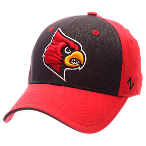 Zephyr Louisville Cardinals College Challenger Stretch Fit Hat, Red