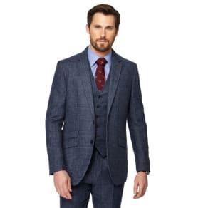 Hammond & Co. By Patrick Grant - Big and Tall Blue Pow Check Blazer
